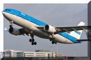 KLM Airbus A330 PH-AOE leaving from the famous Kaagbaan runway 24