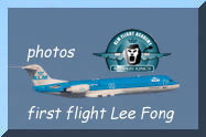 first flight for Lee Fong To as a pilot for KLM